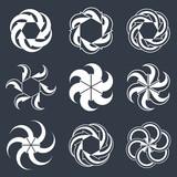 Infinite loop arrows vector abstract symbol, single color graphi poster