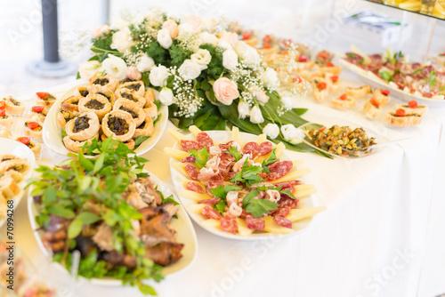 Foto op Plexiglas Buffet, Bar Wedding Catering Food