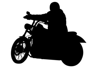 Motorcyclist on road