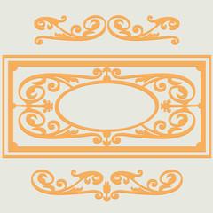 Vintage backgroun pattern, swirling decorative elements