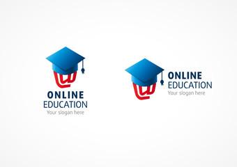 Online Education logo riding hood