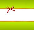 grüne Karte mit roter Schleife