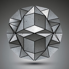 Complicated dimensional spherical element created from geometric
