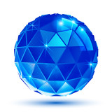 Bright plastic radiance 3d eps10 spherical object with sparkles poster
