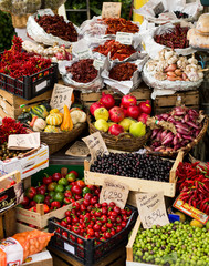 fruit and vegetable open air market in Italy