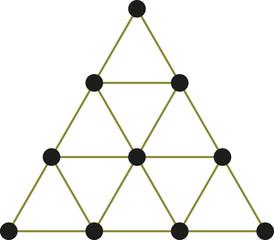 Tetraktys, The Unit Of Four - Pythagorean Symbol