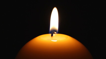 candle in blackness