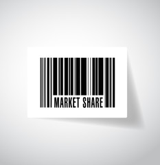market share barcode illustration design