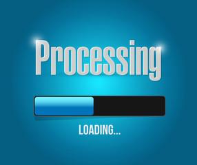 processing bar illustration design