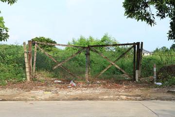 Damage doors and abandoned land