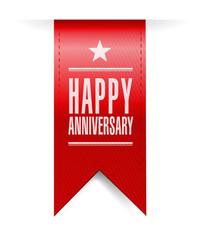happy anniversary banner illustration design