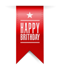 happy birthday banner illustration design