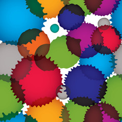 Vector ink splash seamless pattern with rounded overlap shapes,