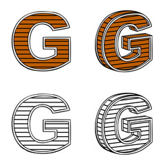 Letter G (a block of wood)