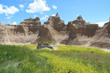 Badlands Erosionslandschaft