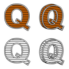 Letter Q (a block of wood)