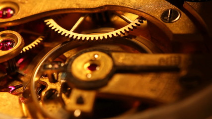 working pocket clock mechanism