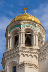 Dome of Orthodox Naval cathedral of St. Nicholas. Built in 1903-