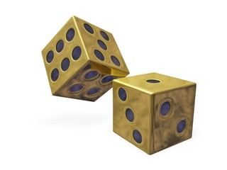 Gold Rolling Casino Dice