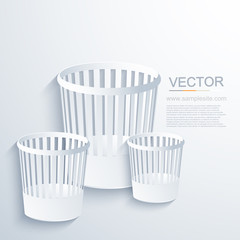 vector modern bin background.