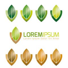 Leaf Symbol Nature Logo Design Elements Set