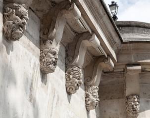 Decorative sculptures on the Pont Neuf, New Bridge across the Se
