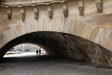 Pont Neuf. New Bridge is the oldest bridge across the Seine rive