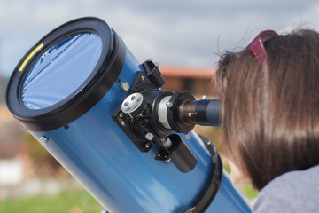 Sun Observing Through a Telescope