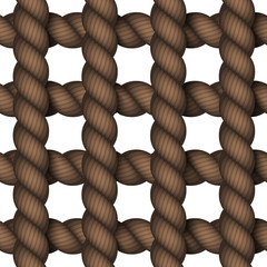 Vector modern rope on white background.