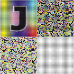 Letter J (mixed mosaic)