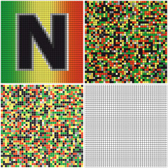 Letter N (mixed mosaic)
