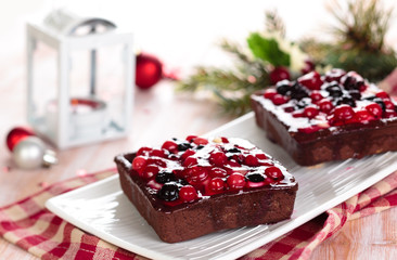 Tarts with berries.