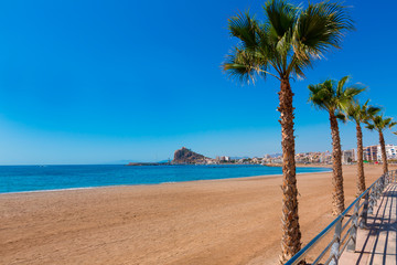 Aguilas Levante beach Murcia in Spain