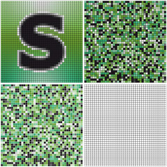 Letter S (mixed mosaic)