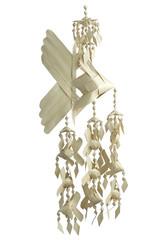 hanging toy made form leaf