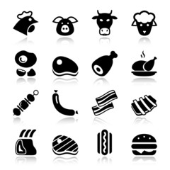 meat black icons reflex