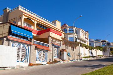 Living houses in new part of Tangier, Morocco
