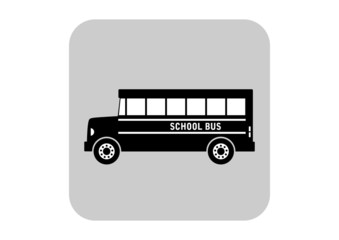 School bus vector icon