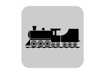 Locomotive vector icon
