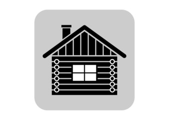 Log house vector icon