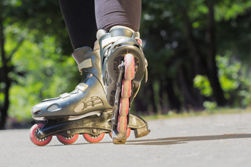 Rollerblade/Inline skates close-up.