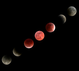 Moon eclipse mosaic