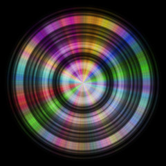 Color disc generated hires texture