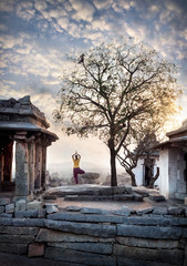 Yoga in Hampi