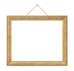 Retro frame on rope