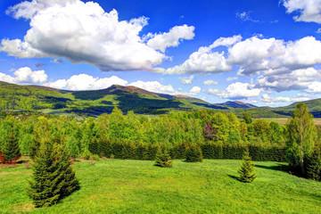 Bieszczady Mountains in HDR technique, Poland
