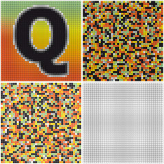 Letter Q (mixed mosaic)