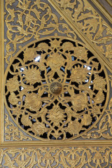 Decoration of minbar in Blue Mosque
