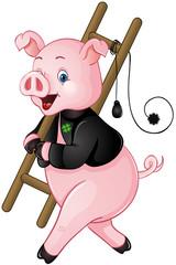 Niedliches Glücksschwein