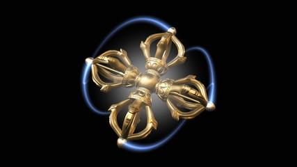 Tibetan double Dorje spinning